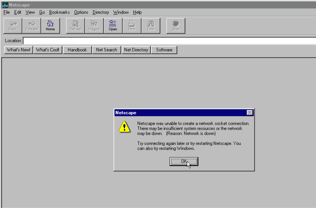 This Site Is Best Viewed In Netscape W95 Theme Demo